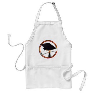 School Colors Gold & Red for The Graduate Adult Apron