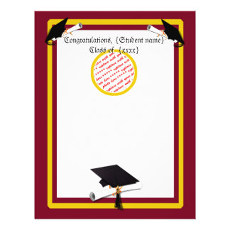 School Colors Gold & Red for The Graduate 21.5 Cm X 28 Cm Flyer