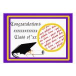 School Colours Purple & Gold Graduation Frame Personalized Announcement