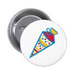 School cone pinback buttons