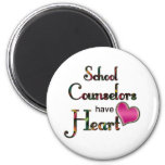 School Counsellors Have Heart 6 Cm Round Magnet