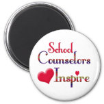 School Counsellors Inspire 6 Cm Round Magnet