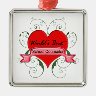 School Counselor Christmas Ornament