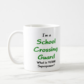 School crossing guard basic white mug