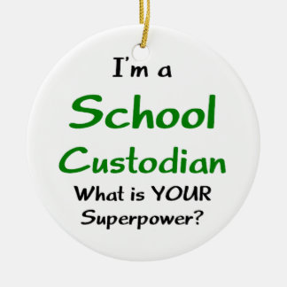 school custodian christmas ornament