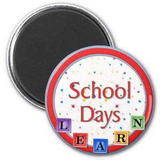 School Days Blocks Magnet