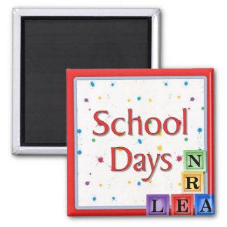 School Days Blocks Refrigerator Magnet