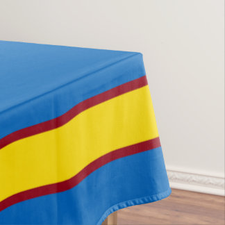 School Days Blue With Yellow and Red Stripe Tablecloth