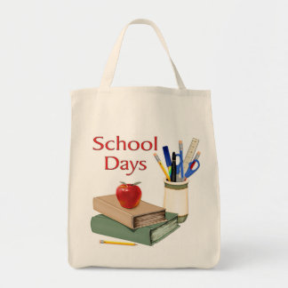 School Days Grocery Tote Bag