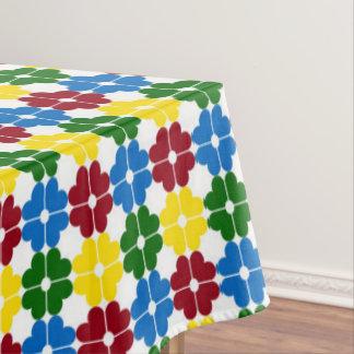 School Days Palette Heart Flowers Tablecloth