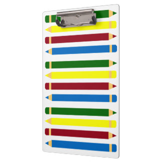School Days Pencils Personalized Clipboard