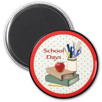 School Days Still Life Refrigerator Magnets