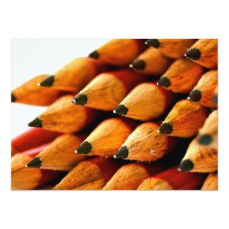 School Days Wooden Pencils 14 Cm X 19 Cm Invitation Card