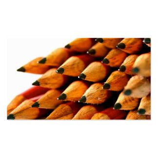 School Days Wooden Pencils Business Card Template