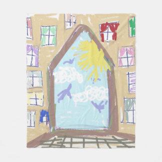 School Daze ~~ Out the Window & Through the House Fleece Blanket