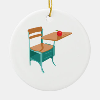 School Desk & Apple Christmas Ornament