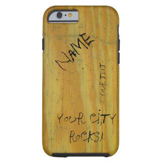 School Desk graffiti Tough iPhone 6 Case