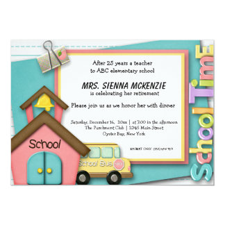 School Event 13 Cm X 18 Cm Invitation Card