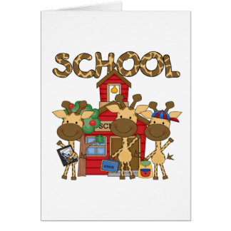 School - Giraffe Tshirts and Gifts Greeting Card