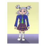 School Girl Anime Art Gallery Character Post Cards
