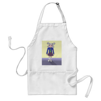 School Girl Anime Art Gallery Character Standard Apron