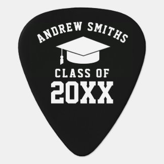 School graduate / graduation black plectrum
