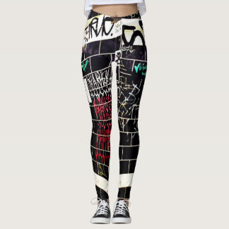 school graffiti wall womens leggings