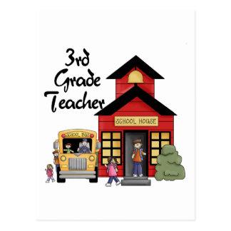 School House 3rd Grade Teacher Tshirts and Gifts Postcard