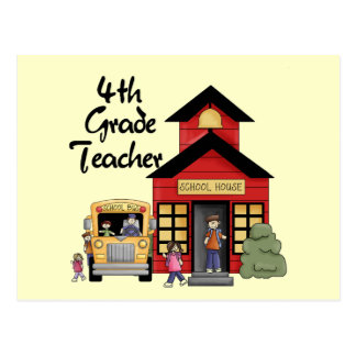 School House 4th Grade Teacher Tshirts and Gifts Postcard