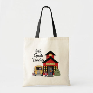 School House 4th Grade Teacher Tshirts and Gifts Tote Bag