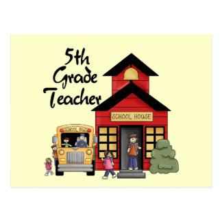 School House 5th Grade Teacher T-shirts and Gifts Post Cards