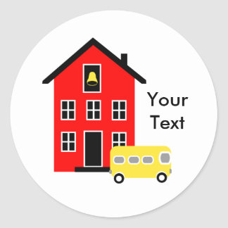 School House and Bus Sticker