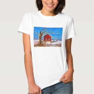 School House in the Snow Tee Shirts
