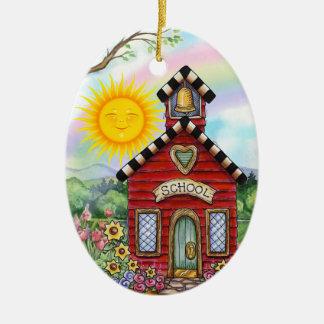 School House - SRF Christmas Ornament