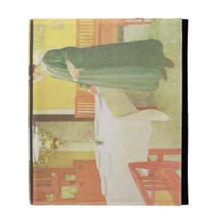 School Household Dining Room Scene pub in Lass iPad Folio Case