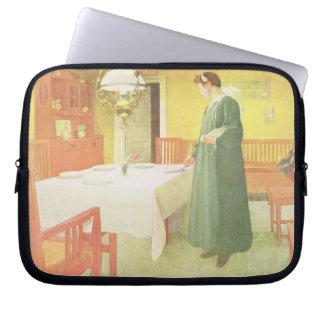 School Household, Dining Room Scene, pub. in 'Lass Laptop Sleeve