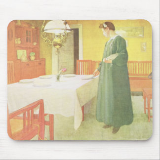 School Household, Dining Room Scene, pub. in 'Lass Mouse Mat