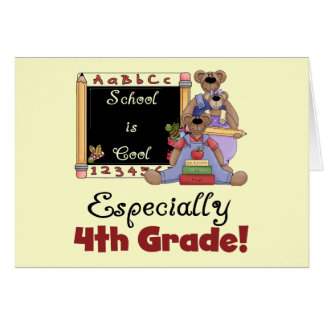 School is Cool 4th Grade Tshirts and Gifts Greeting Card