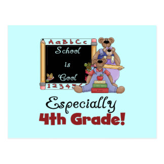 School is Cool 4th Grade Tshirts and Gifts Postcard