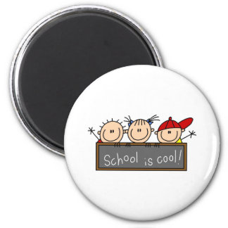 School is Cool 6 Cm Round Magnet