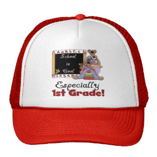 School is Cool Especially 1st Grade Cap