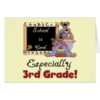 School is Cool Especially 3rd Grade Greeting Card
