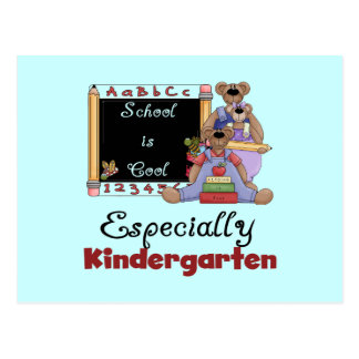 School is Cool Especially Kindergarten Postcard