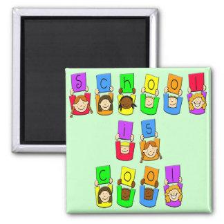 School is Cool - Kids Refrigerator Magnet