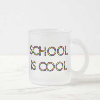 School is Cool Frosted Glass Mug