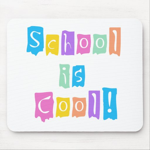 School is Cool Rainbow Colors Mouse Mat