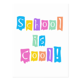 School is Cool Rainbow Colors Tshirts and Gifts Postcard