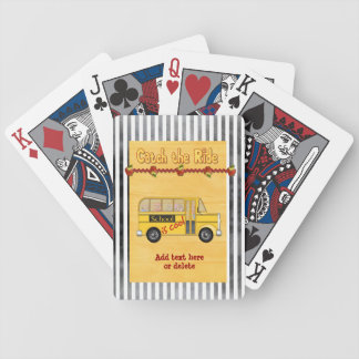 School is Cool School bus Bicycle Playing Cards
