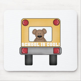 School is Cool School Bus Mouse Pad