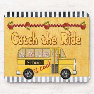 School is Cool School bus Mousepads